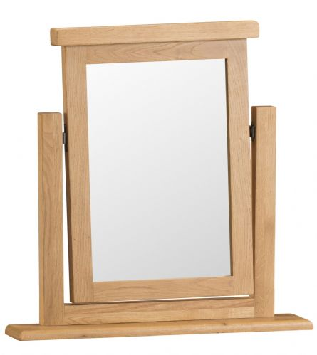 Cornish Oak Single Dressing Table Mirror